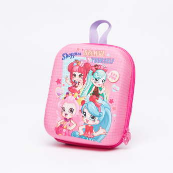 Shopkins Printed Lunch Bag with Zip Closure and Adjustable Straps