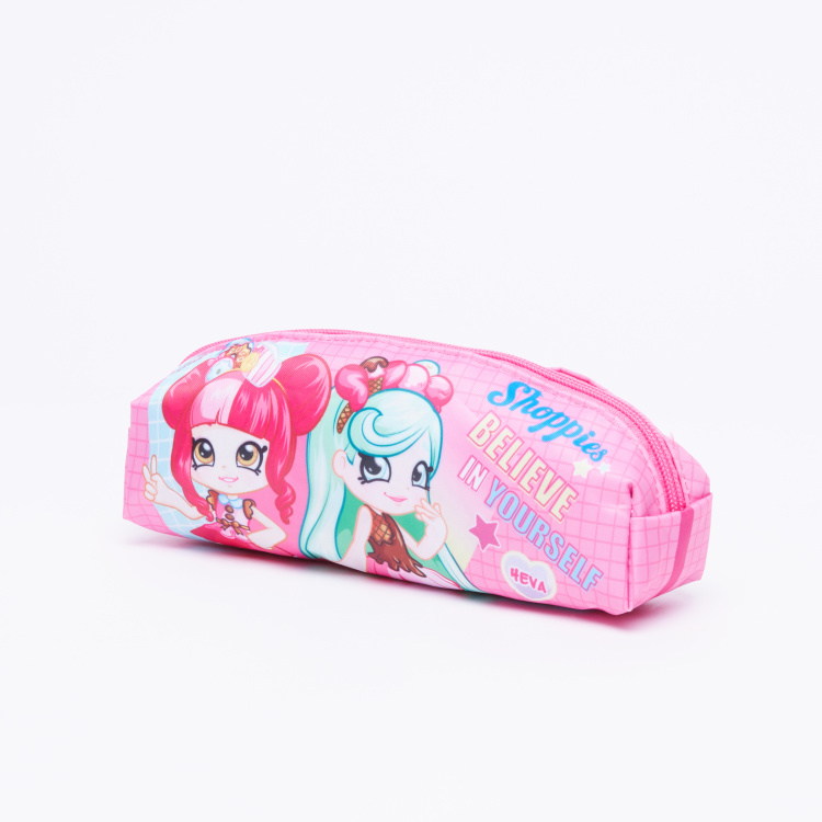 Shoppies Printed Pencil Case with Zip Closure