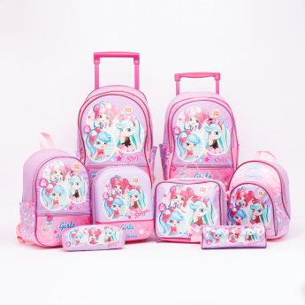 Shopkins Printed Mini Lunch Backpack with Zip Closure