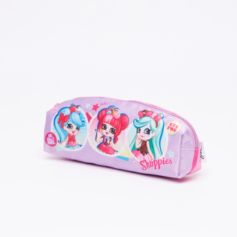 Shopkins Printed Pencil Case with Zip Closure