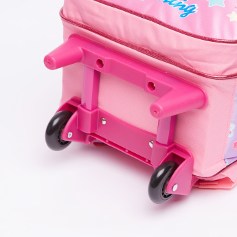 Shopkins Printed Trolley Backpack with Zip Closure