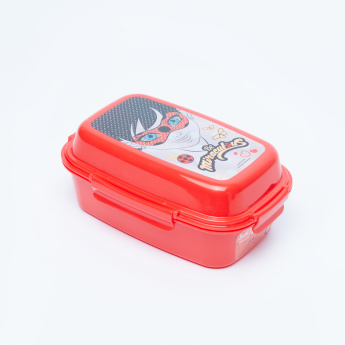 Miraculous Printed Lunchbox with 3 Trays and Clip Closure