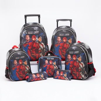 Justice League Printed Backpack with Zip Closure