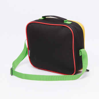Ben 10 Printed Lunch Bag with Zip Closure and Adjustable Strap