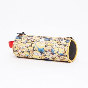 Minions Printed Pencil Case with Zip Closure