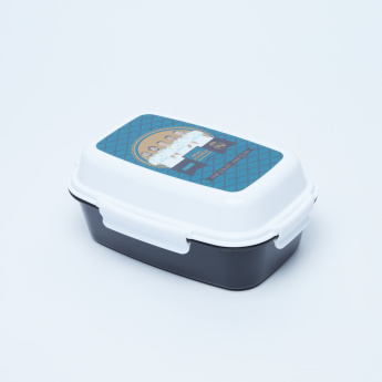 Real Madrid Printed Lunchbox with 3 Trays and Clip Closure