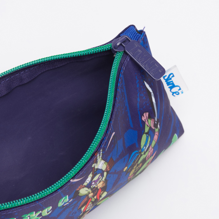 Teenage Mutant Ninja Turtles Printed Pencil Case with Zip Closure