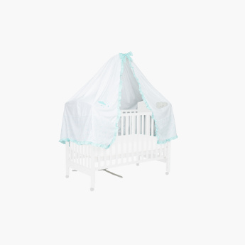 Juniors Printed Bed Canopy with Tie-Ups