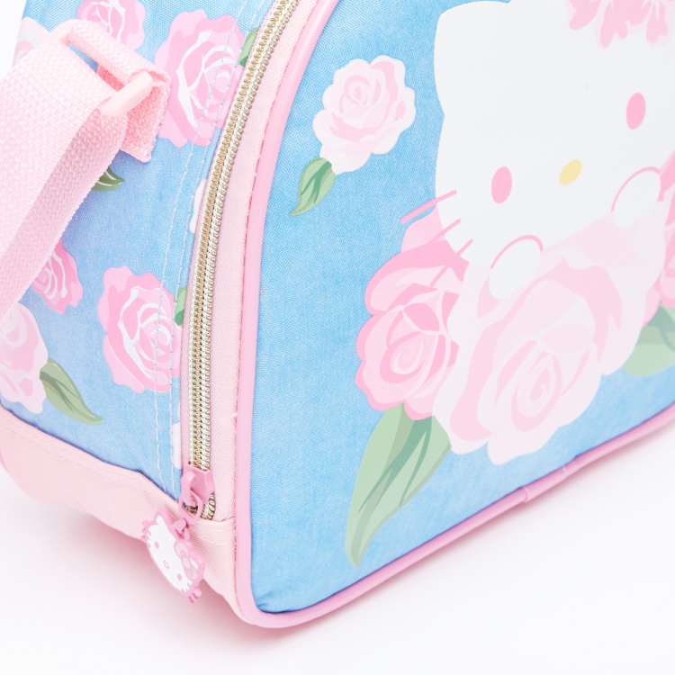 Hello Kitty Printed Lunch Bag with Zip Closure