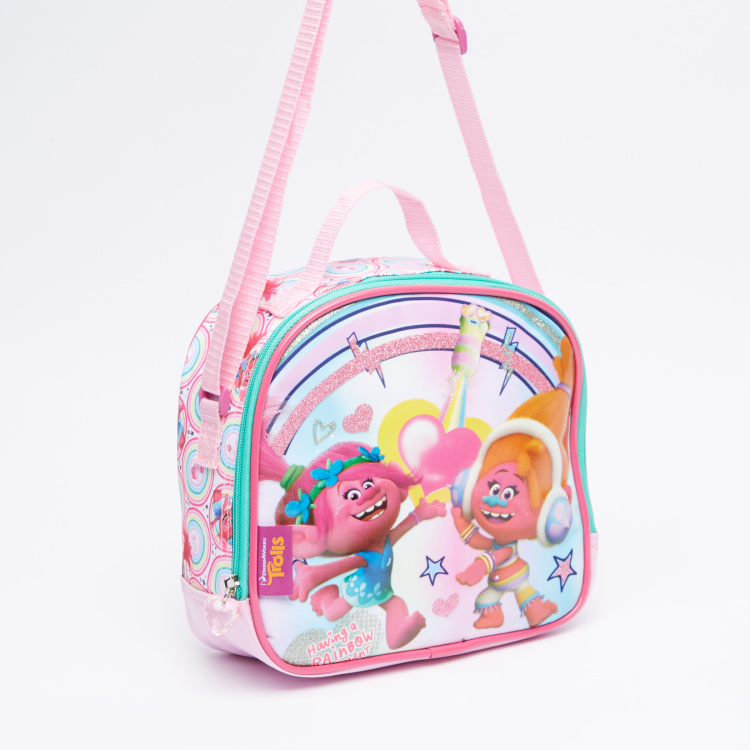 Trolls Printed Lunch Bag with Zip Closure