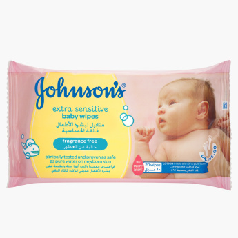Johnson's Extra Sensitive Baby Wipes - Set of 20