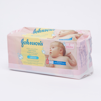 Johnson's Extra Sensitive Baby Wipes Double Pack