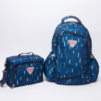 Sunveno Printed Diaper Backpack with Tiffin Bag