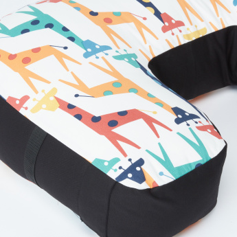 Sunveno Giraffe Printed Feeding and Maternity Pillow with Zip Closure