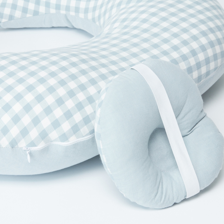 Sunveno Chequered Feeding and Maternity Pillow Set