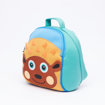 OOPS Hedgehog Printed Backpack with Zip Closure