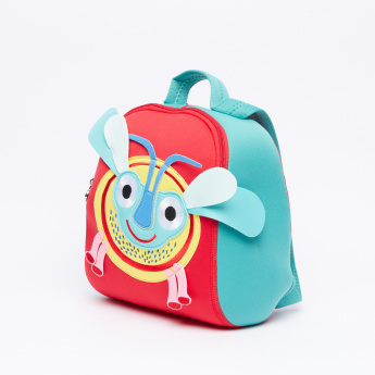OOPS Embroidered Applique Detail Lunch Bag with Zip Closure
