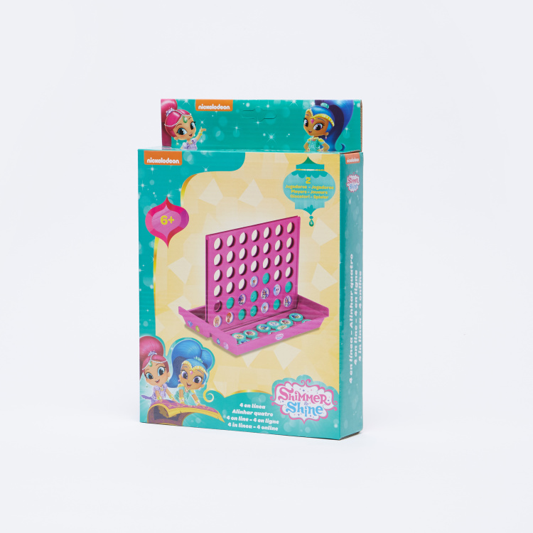 Shimmer and Shine Printed 4 in Line Board Game