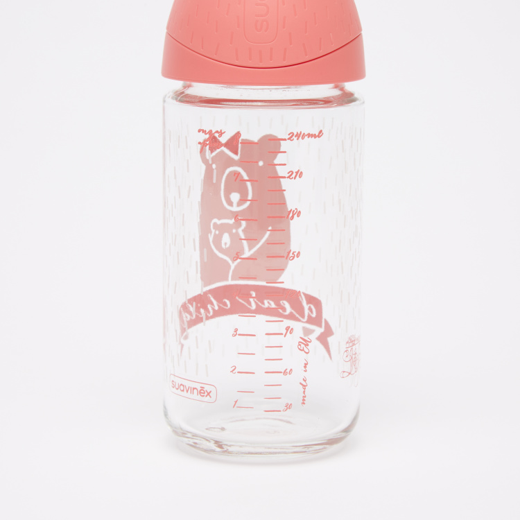 Suavinex Printed Feeding Bottle with Sleeve
