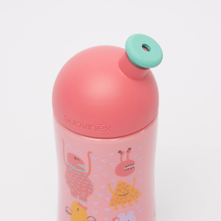 Suavinex Printed Water Bottle with Lid and Spout
