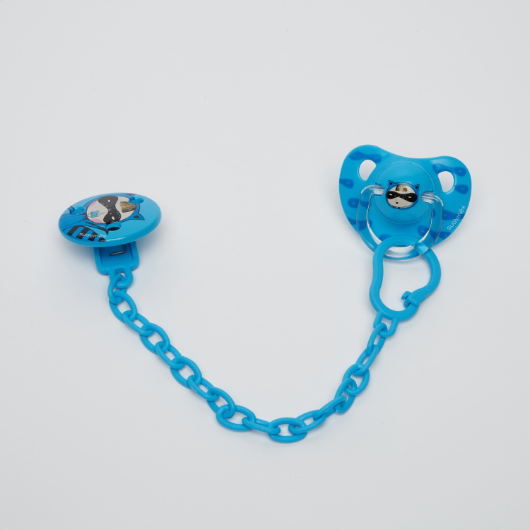 Suavinex Printed Soother with Clip and Chain