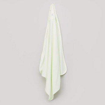 Giggles Pleat Detail Receiving Blanket with Hood - 70x70 cms