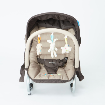 Juniors Coral Printed Baby Rocker