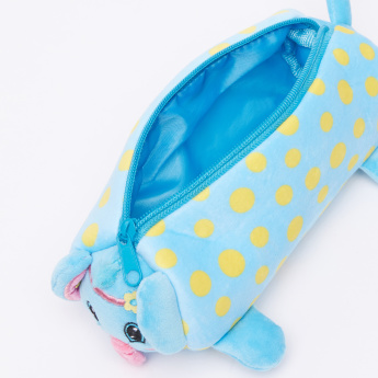 Juniors Plush Pencil Case with Zip Closure