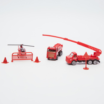Fire Rescue Playset - 7 Pieces