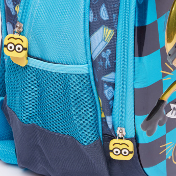 Minions Printed Backpack with Zip Closure