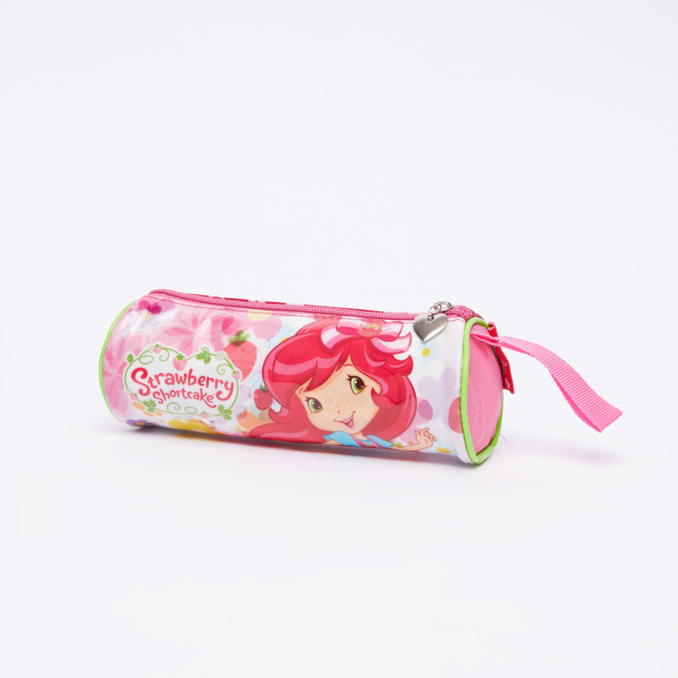 American Greetings Strawberry Shortcake Printed Round Pencil Case