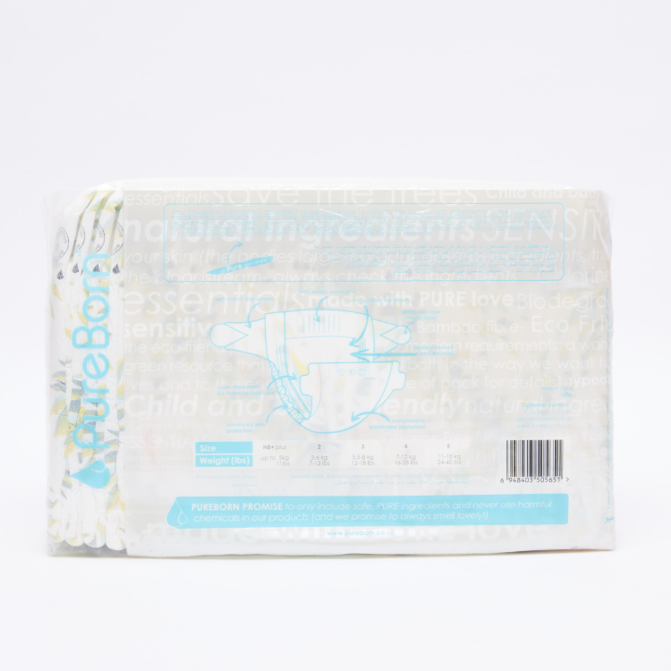 Pure Born Size 3, 28-Nappy Pack - 5.5-8 kgs