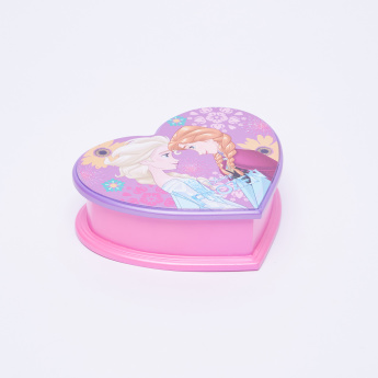 Frozen Printed Heart Shaped Jewellery Box with Mirror