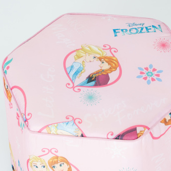 Frozen Printed Hexagon Shaped Stool