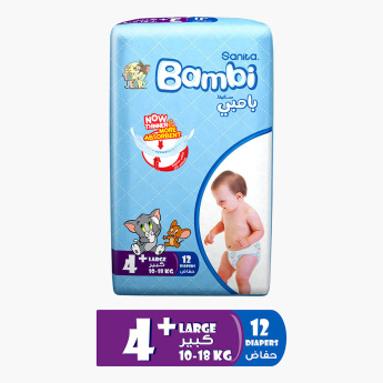 Sanita Bambi Large Diapers - 12 Pieces
