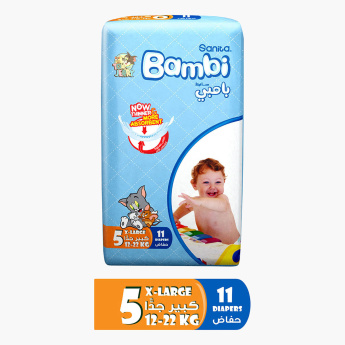 Sanita Bambi Size 5 Diapers - 11 Pieces