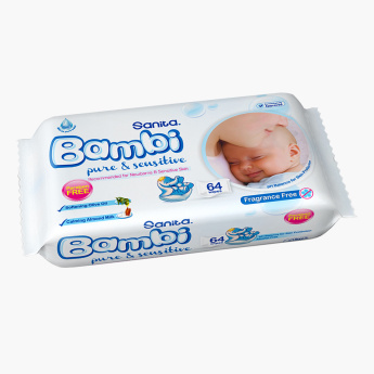 Sanita Bambi 64-Piece Wet Wipes