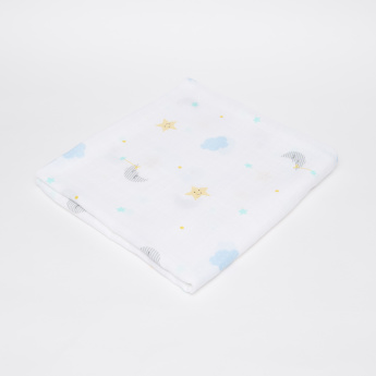 lulujo Printed Muslin Swaddle Cloth