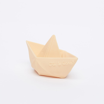 Oli & Carol Origami Boat Natural Teething Toy