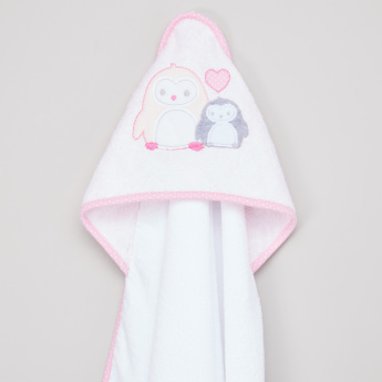 Juniors Textured Hooded Towel with Mittens
