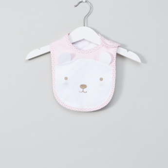Juniors Printed Bib with Press Button Closure