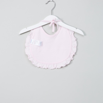 Juniors Bib with Bow Applique and Frill Detail