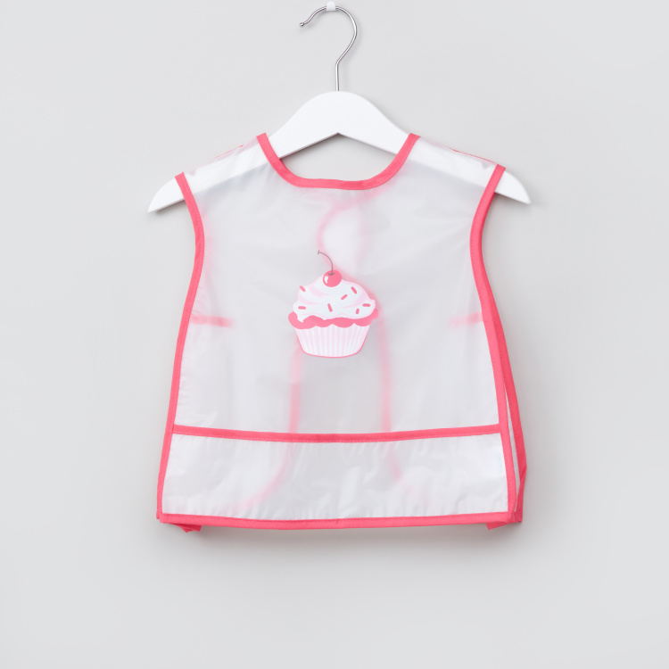 Juniors Printed Bib with Hook and Loop Closure