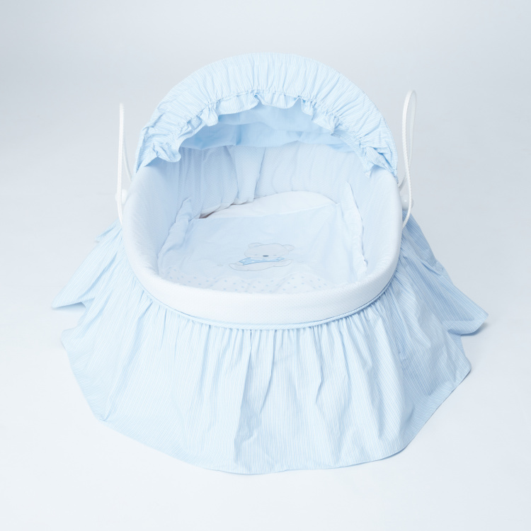 Juniors Printed Baby Basket with Canopy