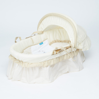 Juniors Printed Baby Moses Basket with Hood