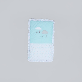 Juniors Printed Cradle Quilt with Embroidery
