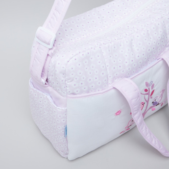 Juniors Printed Applique Detail Diaper Bag