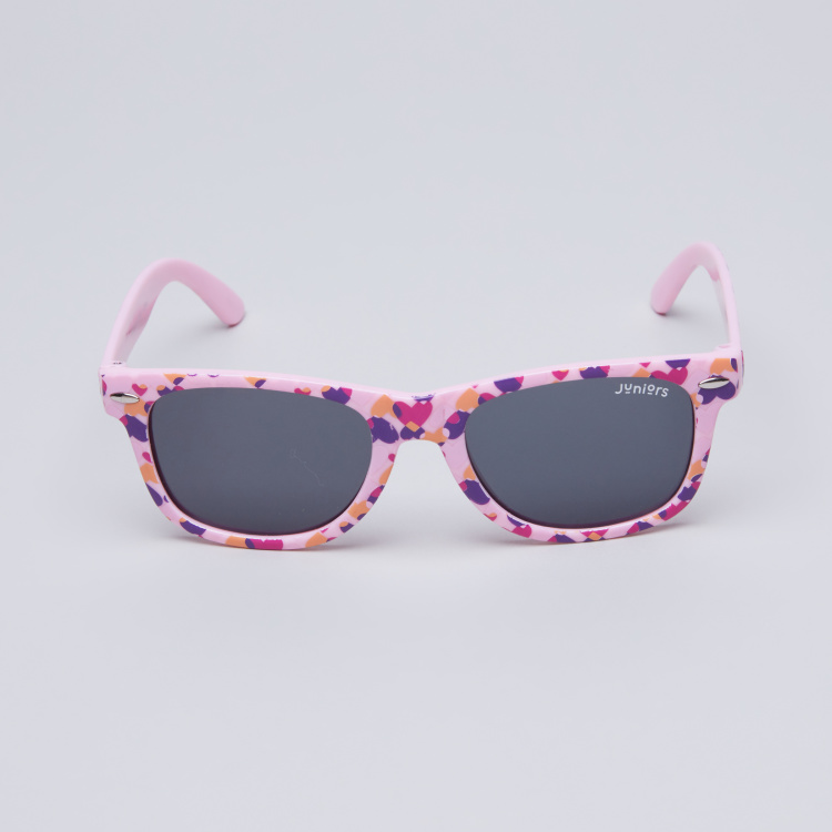 Juniors Printed Full Rim Wayfarer Sunglasses