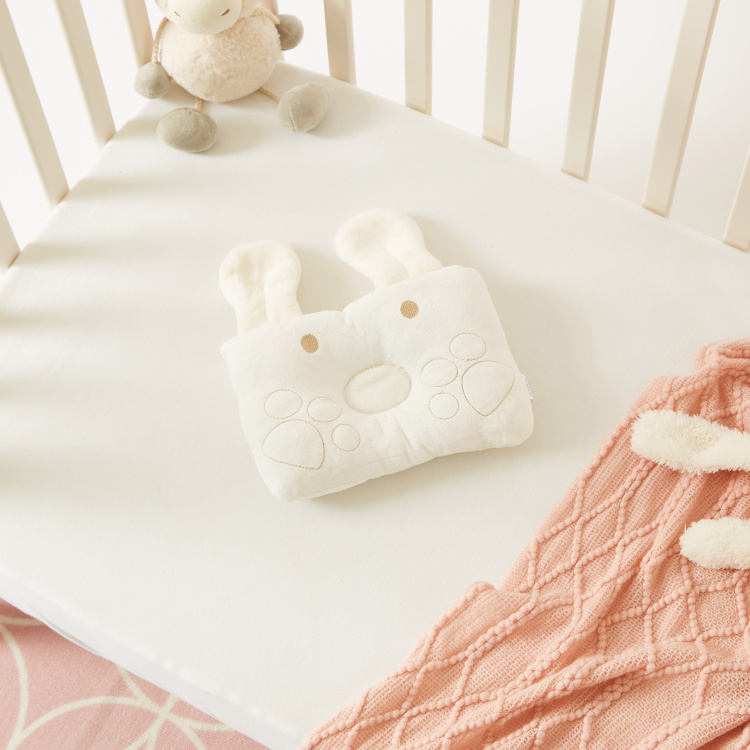 Juniors Bunny Shaped Pillow with Embroidery and Applique Detail
