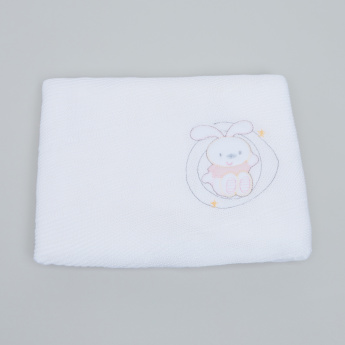 Juniors Rabbit Applique Shawl - 100x100 cms